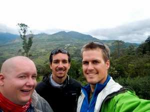 My teammates Andrew (left) and Scott (middle) somewhere in the Andes.